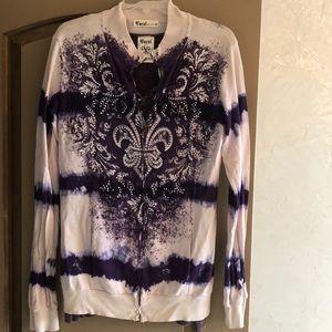 Vocal Tops - Nwot vocal zip up sweatshirt